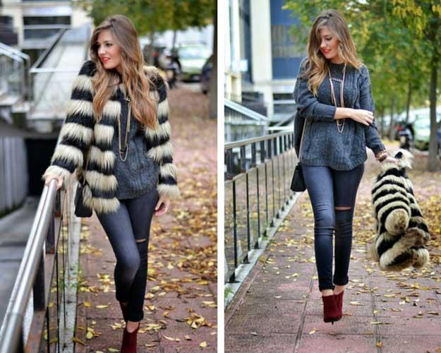 Faux Fur Winter Coat Outfit