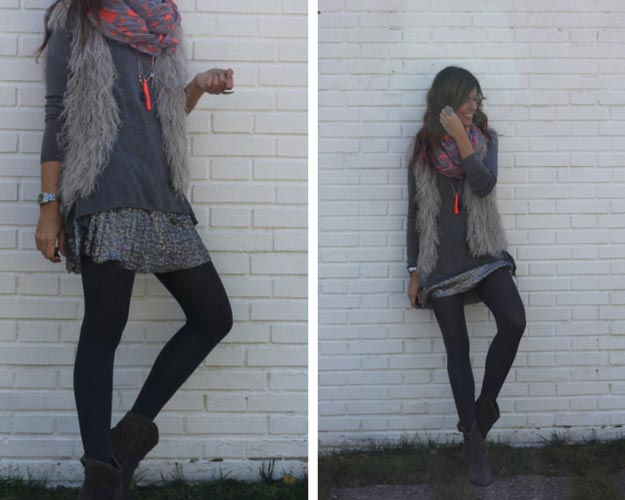Neon Details in Winter Outfit