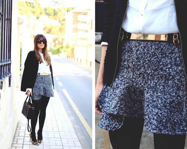 Ruffle Skirt Leopard Heels Outfit