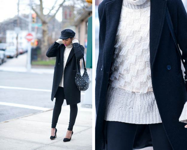 Sparkly Sweater Winter Outfit