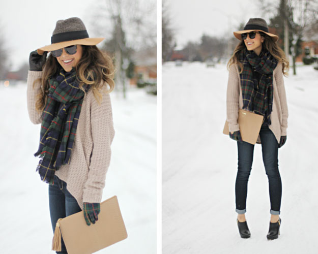 Tartan Scarf Winter Outfit