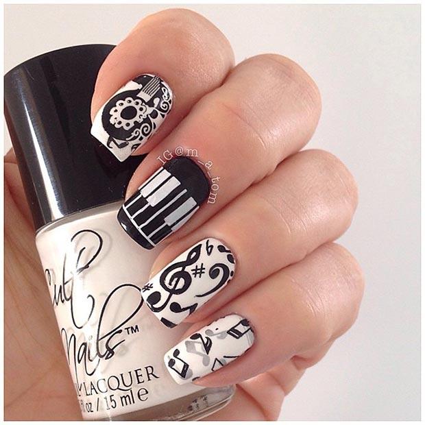 Music Nail Design