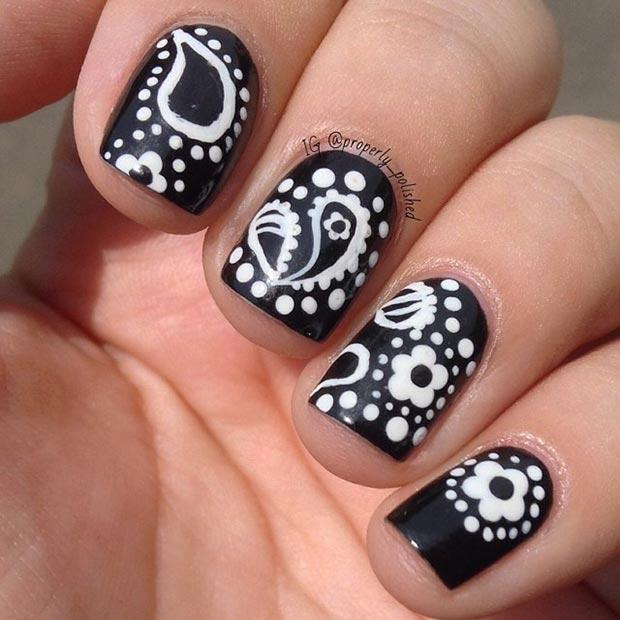 Interesting Floral Nails