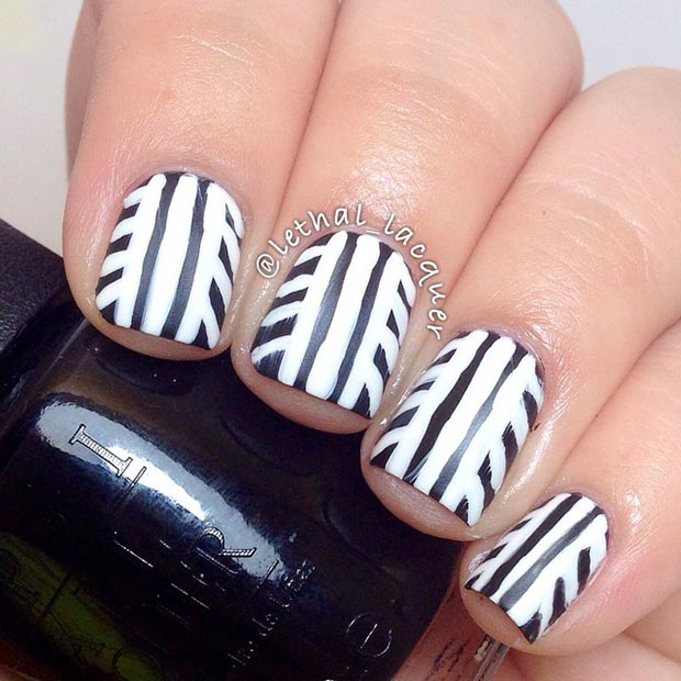 50 Best Black And White Nail Designs Stayglam