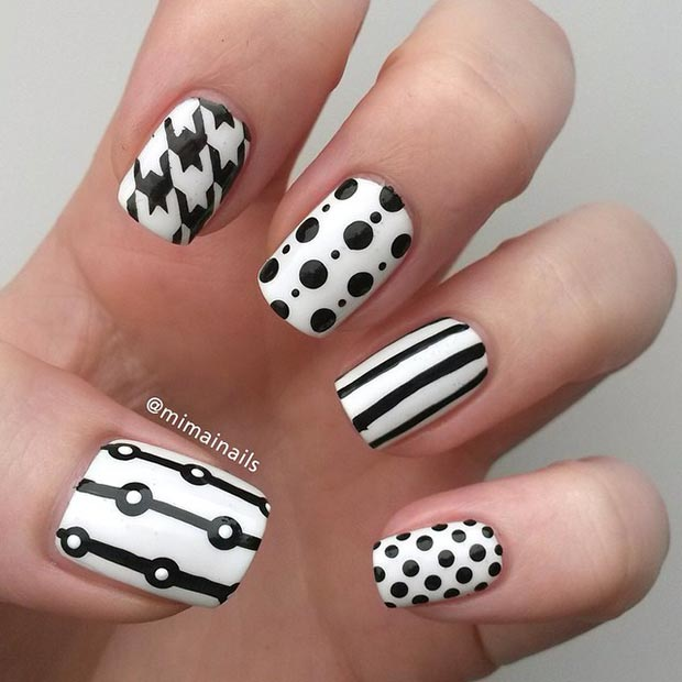 Different Patterns Nail Design