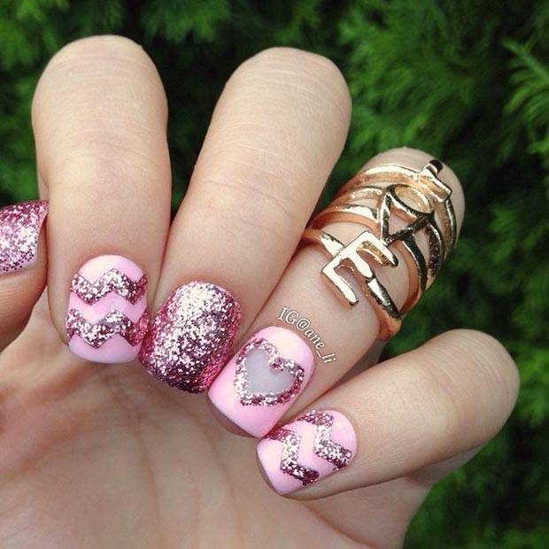 30 Lovely Valentine\'s Day Nails | StayGlam