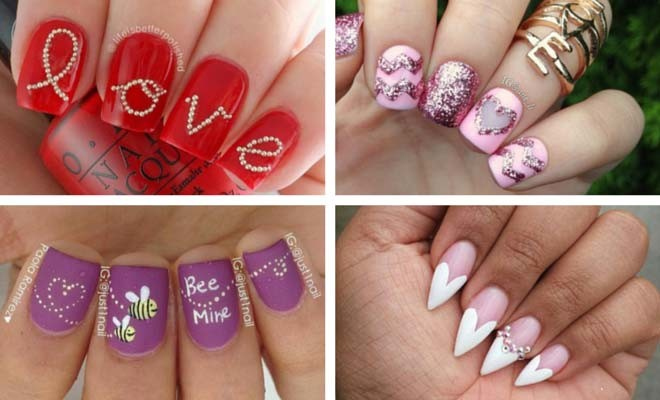 30 lovely valentines day nails stayglam - Valentines Nail