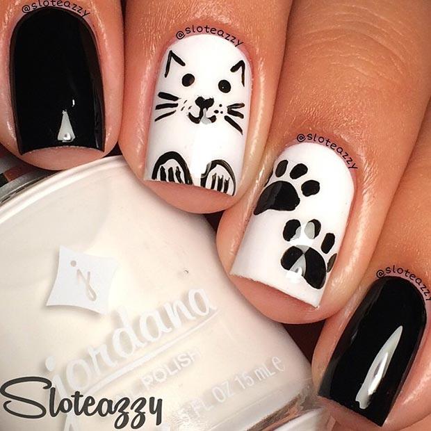 Cat Nail Design