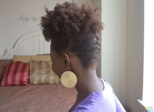 African American French Braid Updo