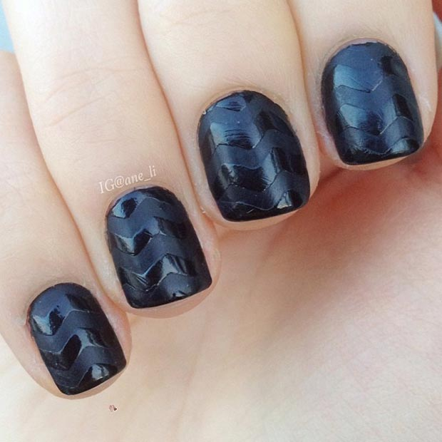 80 nail designs for short nails stayglam black matte nail design for short nails prinsesfo Image collections