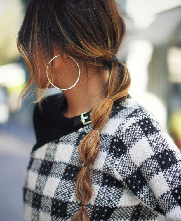 Low Bubble Ponytail