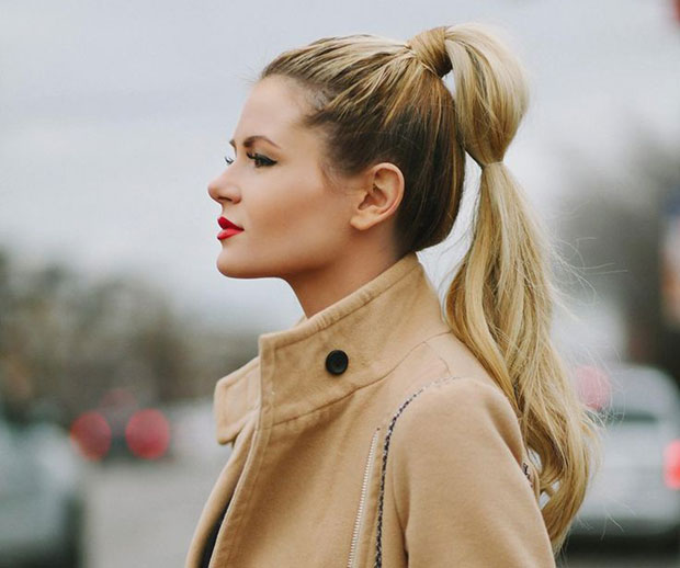 Classic High Ponytail with a Twist