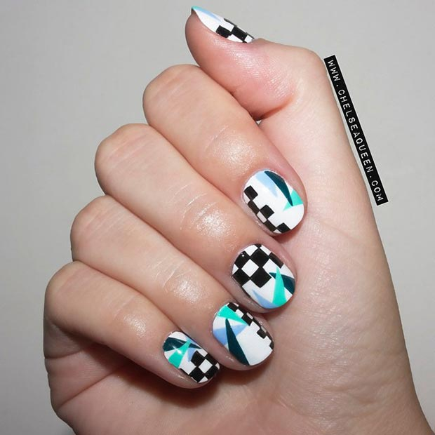 Nail Design Ideas For Short Nails 25 best ideas about short nail designs on pinterest short nails art classy nail designs and nail designs for spring Cool Nail Design For Short Nails