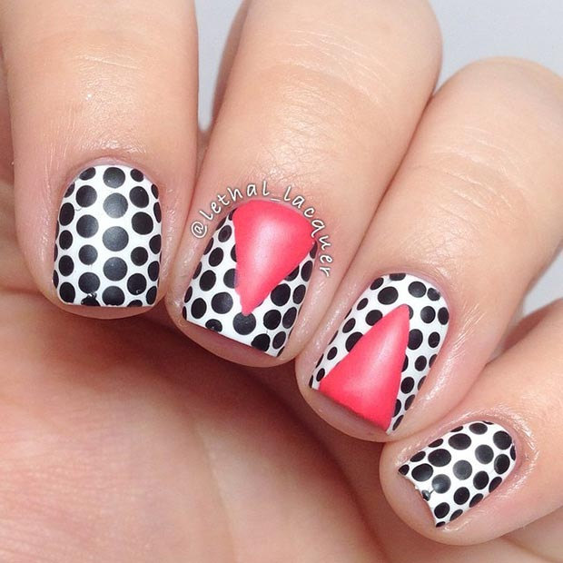 cool polka dot nail design - Cool Nail Design Ideas