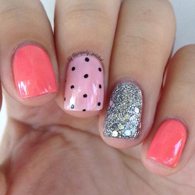 Cute Summer Nail Design for Short Nails