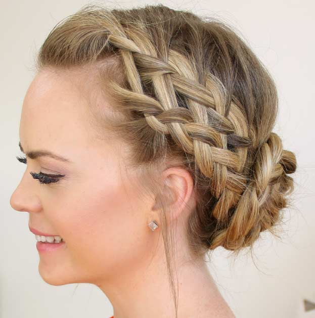 50 french braid hairstyles for 2015 stayglam double waterfall braid bun ccuart Images