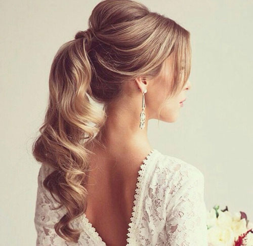 Elegant Curly Ponytail