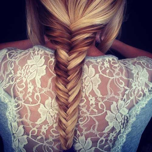 Fishtail French Braid Hairdo