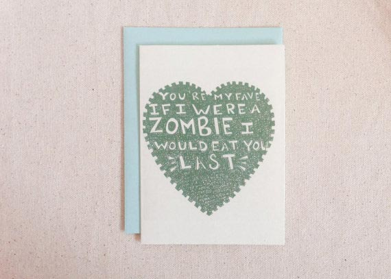 If I Were a Zombie Card
