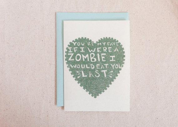 If I Were a Zombie Card