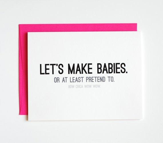 Let's Make Babies Card