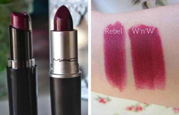 MAC Rebel and Wet n Wild Sugar Plum Fairy | MAC Lipstick Dupes | The Ultimate Guide | mac lipstick dupes list | mac brave lipstick dupes