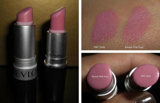 MAC Snob Dupe Revlon Pink Pout