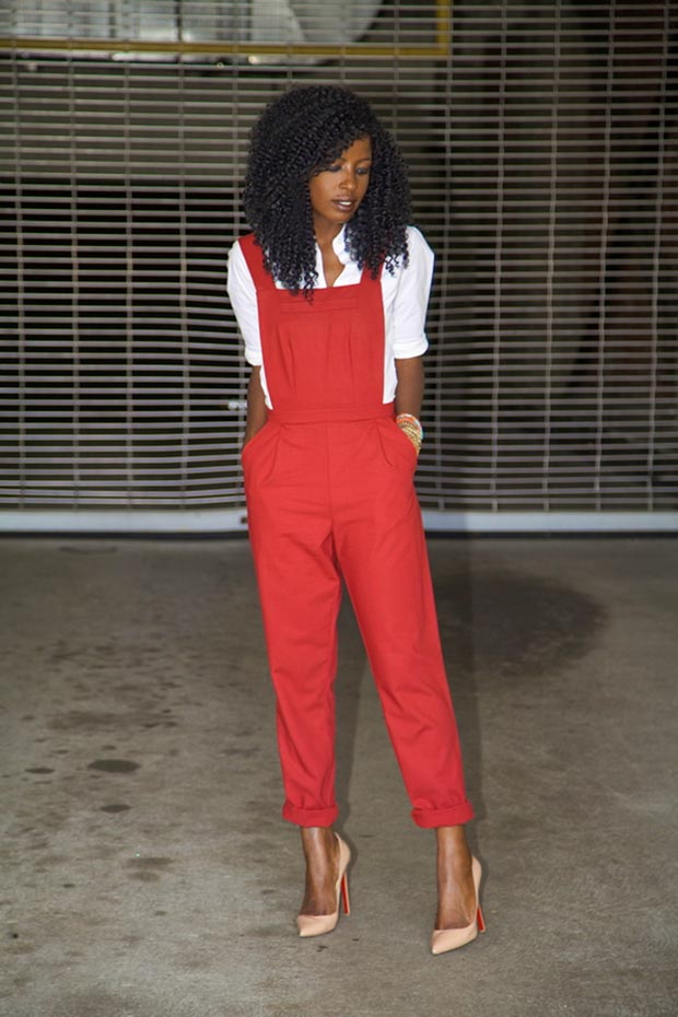Red Tailored Jumpsuit Outfit