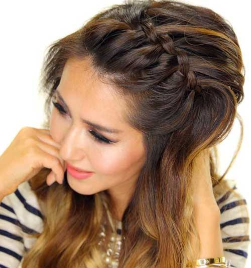 50 french braid hairstyles for 2015 stayglam messy french braid bangs urmus Image collections