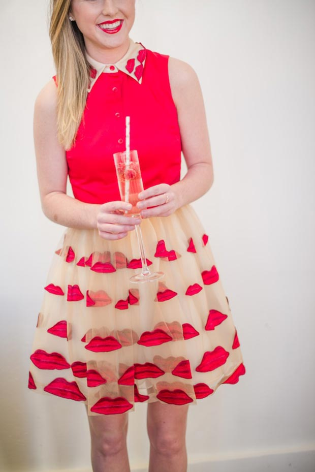 Valentines Day Lip Dress Outfit