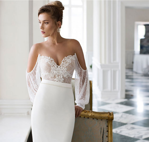 Sexy Bare Shoulders Wedding Dress