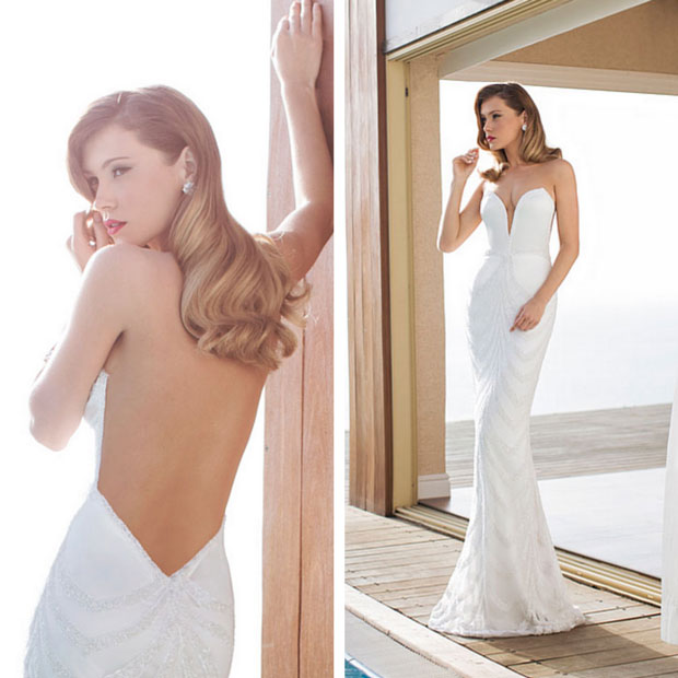 Sexy Trumpet Backless Wedding Dress