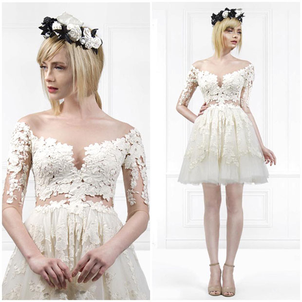 25 sexy wedding dresses for 2015 stayglam for Lace wedding reception dress