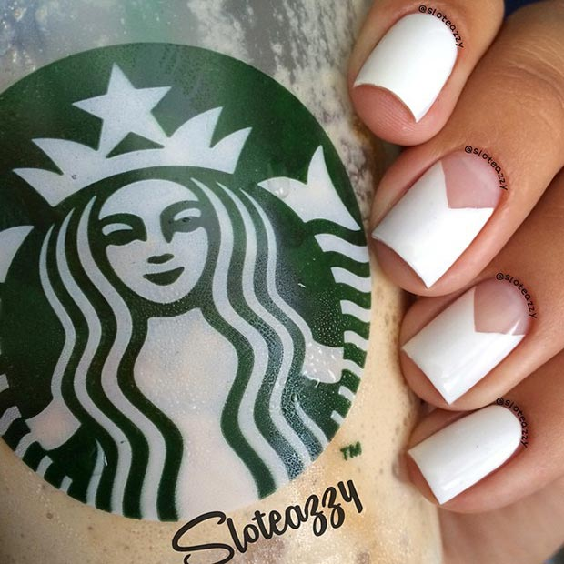 80 nail designs for short nails stayglam simple white nail design for short nails prinsesfo Image collections
