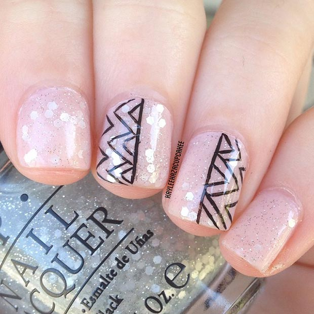 80 nail designs for short nails stayglam simple and cute nail design for short nails prinsesfo Images