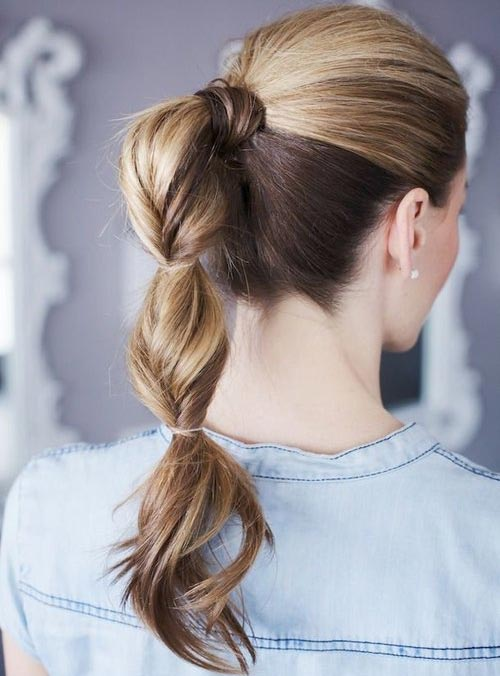 Neat Cute Ponytail Hairstyles For Medium Length Hair