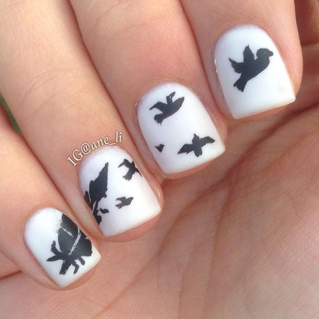80 nail designs for short nails stayglam white matte nail design for short nails prinsesfo Images