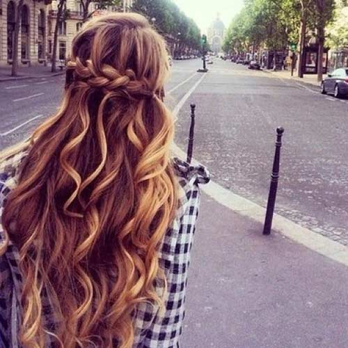 Wrap Around French Braid For Long Hair