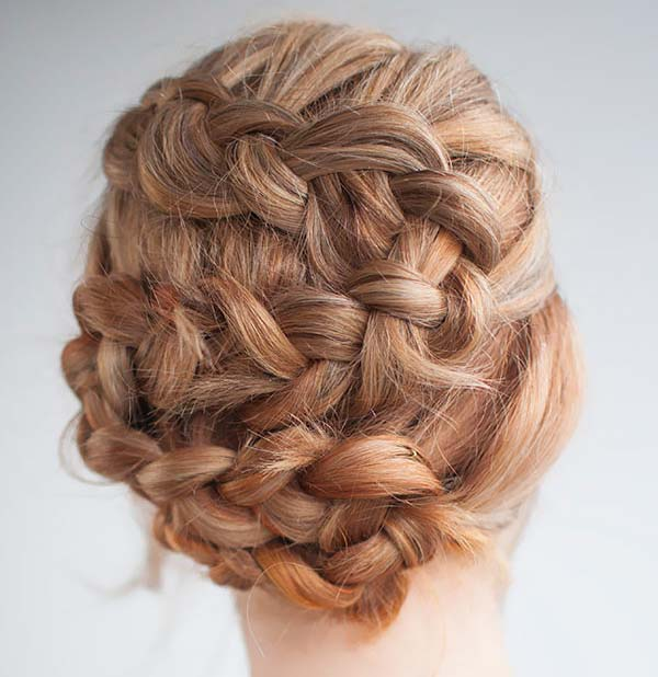 50 french braid hairstyles for 2015 stayglam zig zag french braid updo ccuart Images