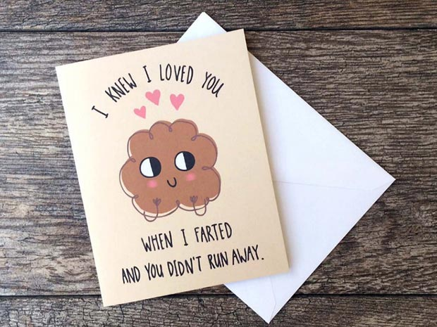 Funny Fart Valentines Day Card