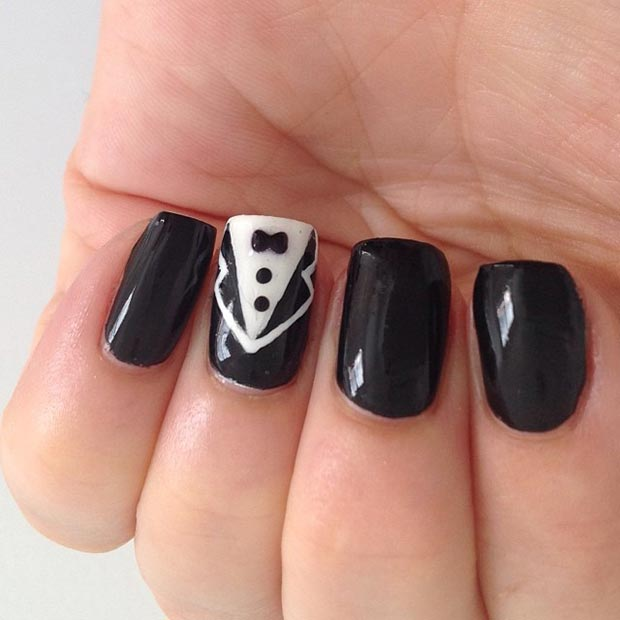 Suit and Tie Accent Nail