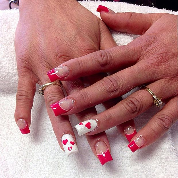 Red and White Nail Design. Red and White Valentine's Day Nails - 30 Lovely Valentine's Day Nails StayGlam