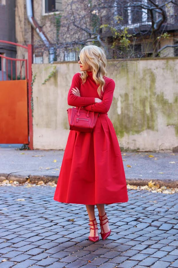 All Red Everything Valentine's Day Outfit