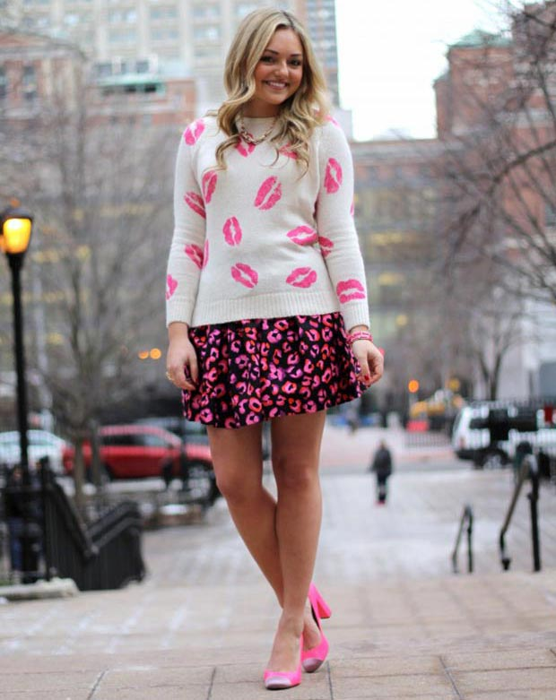 Pink Valentines Day Outfit