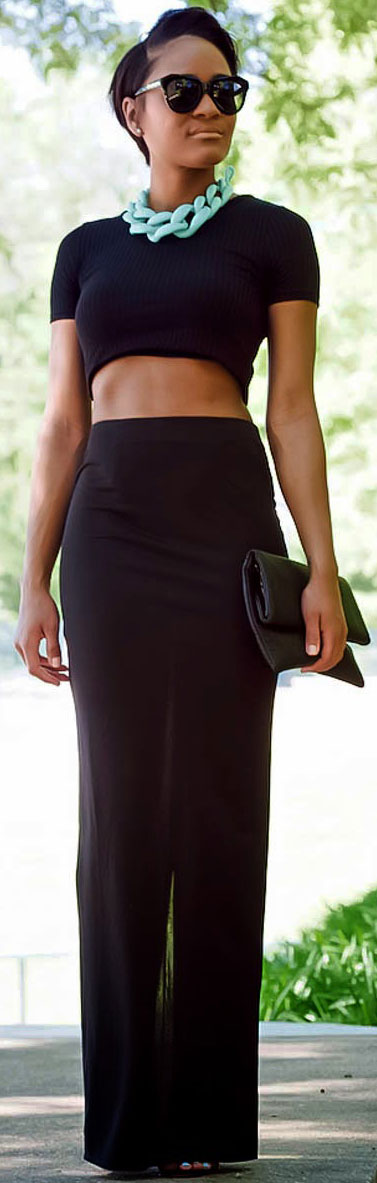 All Black Two Piece Outfit