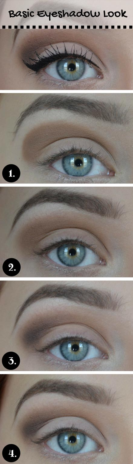 Natural looking eyeshadow for blue eyes