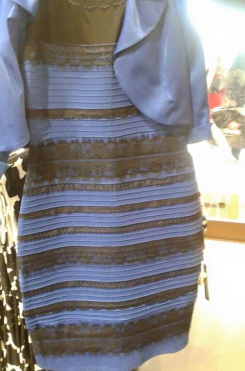 Blue and Black Dress Illusion