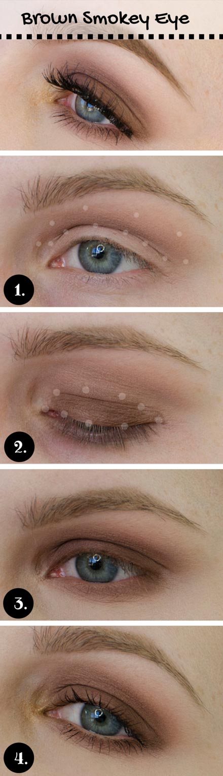 Brown Smokey Eye for Blue Eyes