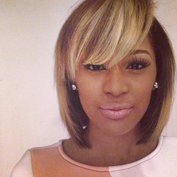 50 short hairstyles for black women stayglam classic bob with highlights urmus Choice Image