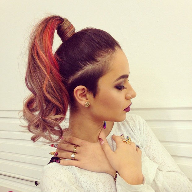 Colorful High Ponytail